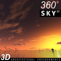 Sky 3D Sunset 014