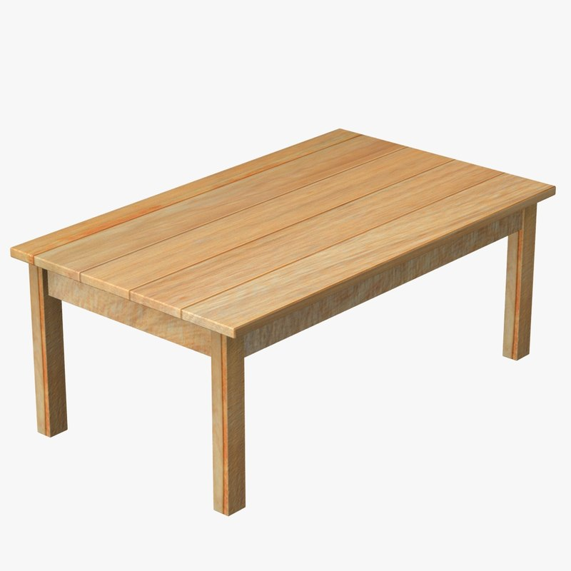 3ds max wood table