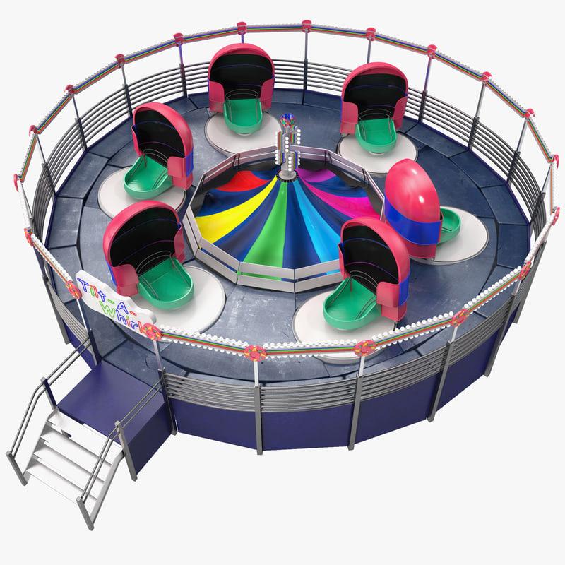 3d tilt whirl model
