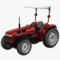 3d c4d tractor jinma 454 red