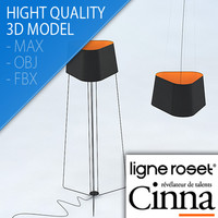 3d floor pendant lamp trinitas model