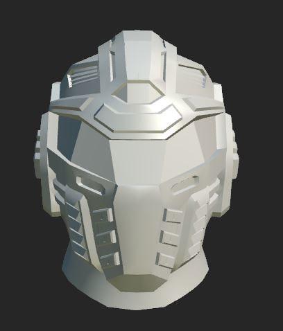 helmet sci fi 3d obj