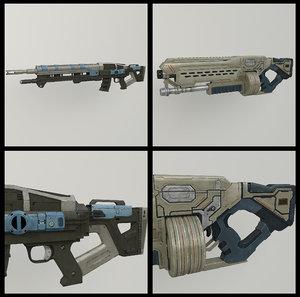 max sci-fi rifle shotgun