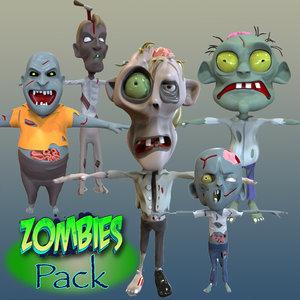 3d model cartoon zombie