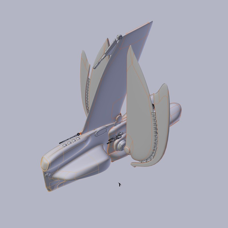 gun gunship 3d model
