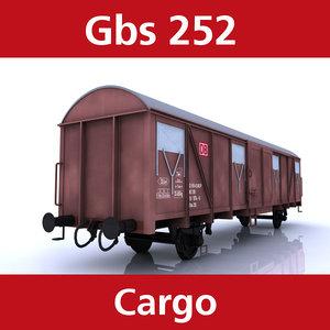 3d model of cargo gbs 252