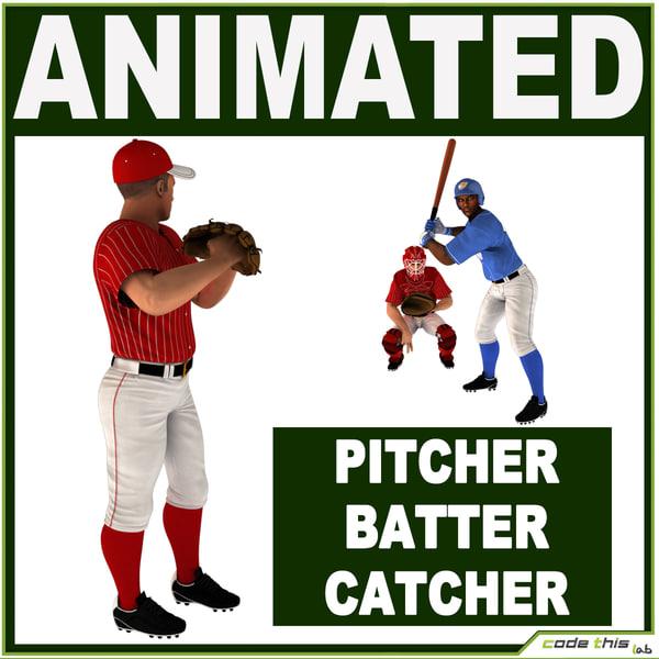 catcher pitcher batter max