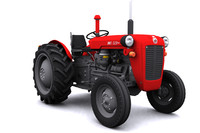 3d model of imt-539 tractor