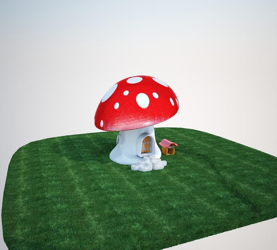 3ds mushroom house