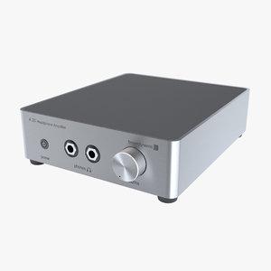 3d photoreal headphone amplifier a20