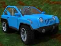 3d fun offroad car model