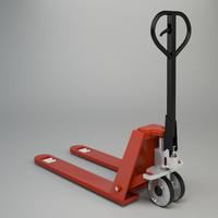 3d pallet truck industrial model