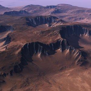3d realistic terrain model