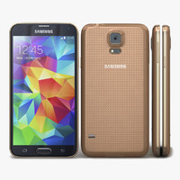 3d samsung galaxy s5 gold model