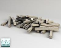 3d wood pile model