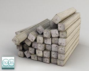 wood pile obj