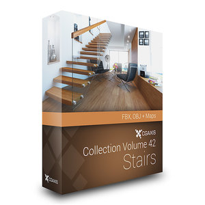 3ds max stairs house