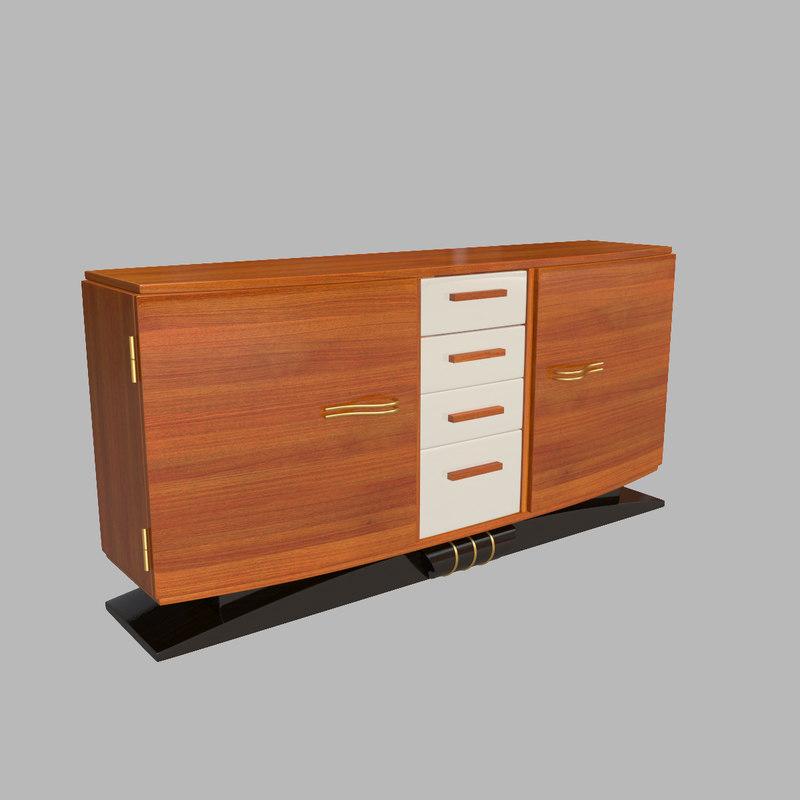3d model sideboard art deco