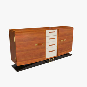3d model sideboard art deco