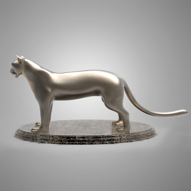 3d model of tiger antiques