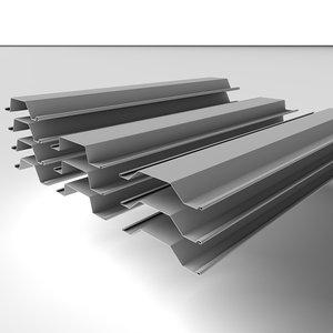 cinema4d steel piles metal