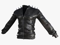 3d leather jacket model