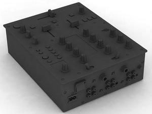 dj mixer pioneer 3d model