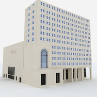 free michigan building 3d model