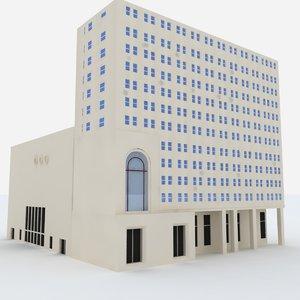free michigan building 3d model