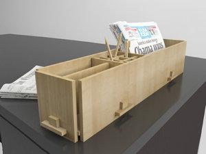 3ds desk office supply organizer