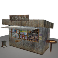 minishop stall 3d max