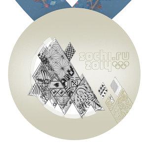 sochi olimpic games medal 3d 3ds