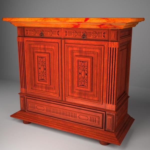 commode chest drawers 3d max