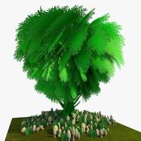 3ds cartoon tree