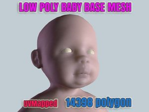 3d max little baby girl base mesh