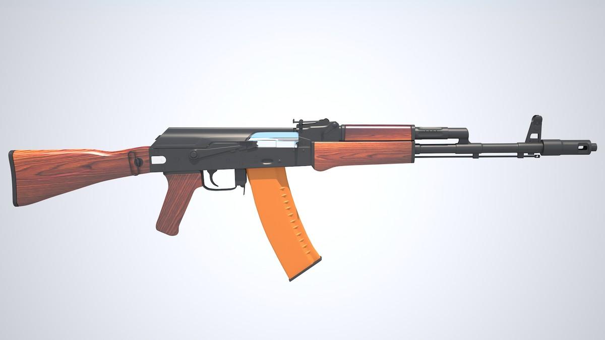 kalashnikov 47 3d model