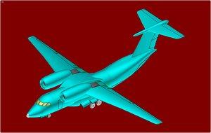 3ds an-74 stol transport aircraft