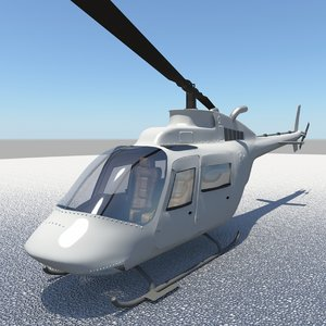 helicopter bell 3d fbx