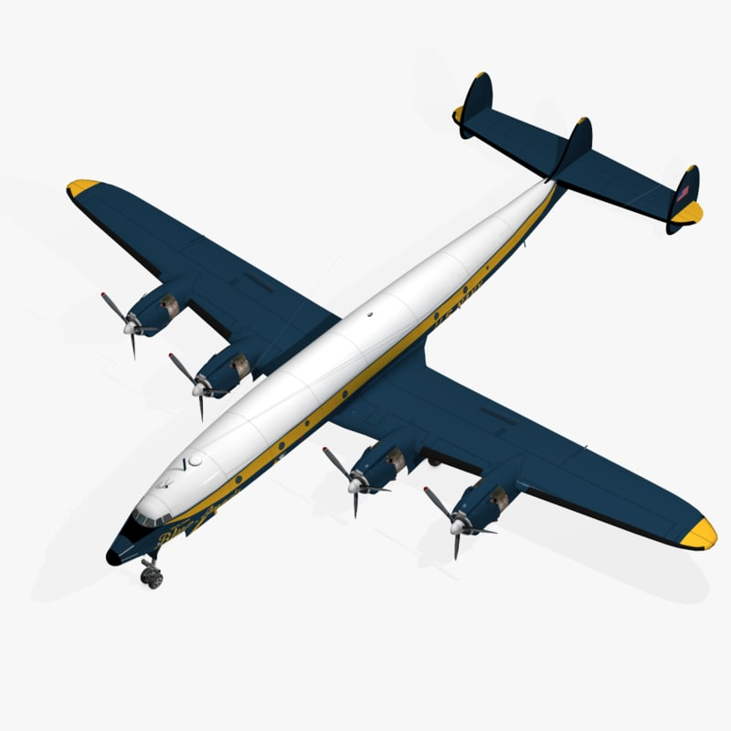 c-121j constellation blue angels 3d max