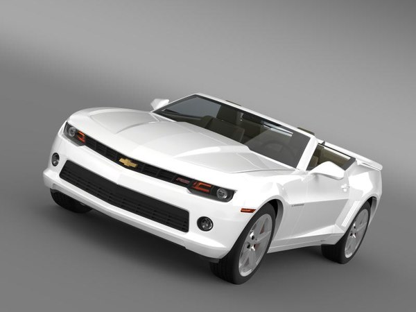 3d model chevrolet camaro rs convertible