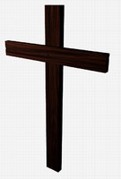 free wooden cross 3d model