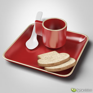 red ceramic cup plate max