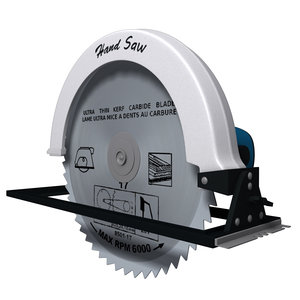3d electric hand saw model