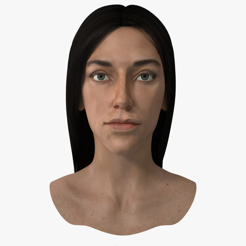 3dsmax female head 4