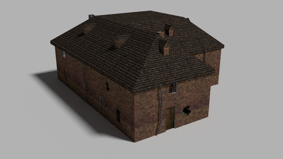 3ds max house abandoned