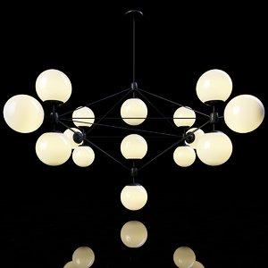 3d roll hill modo chandelier model