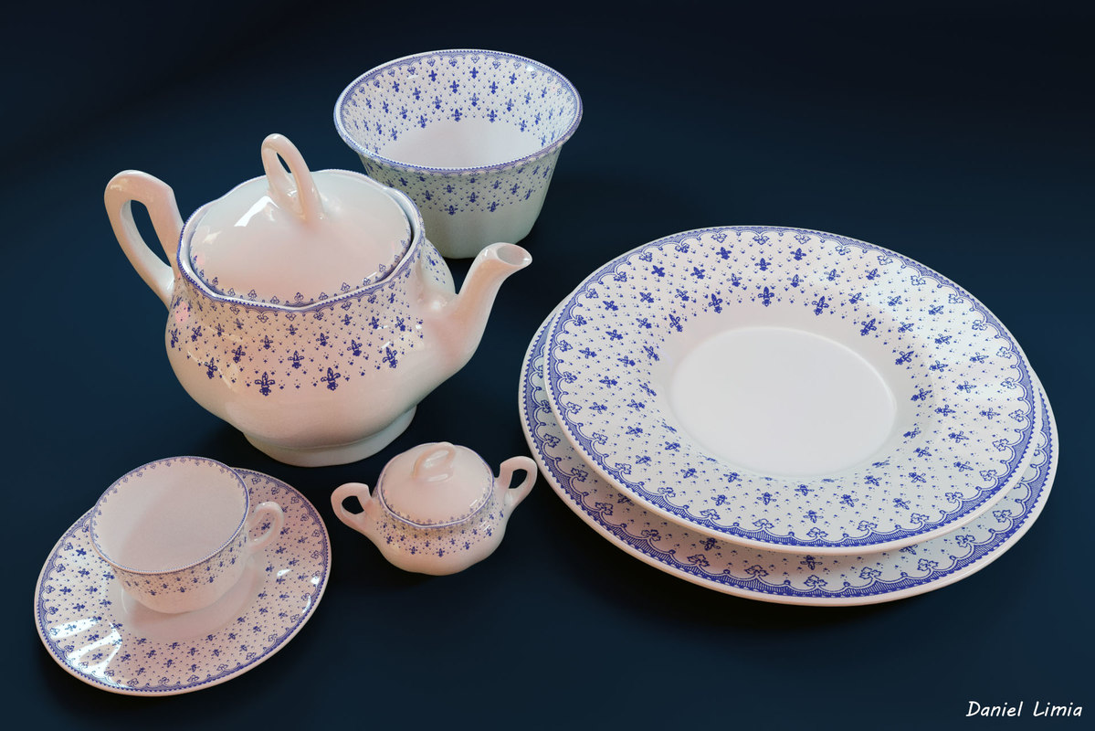 obj objects crockery