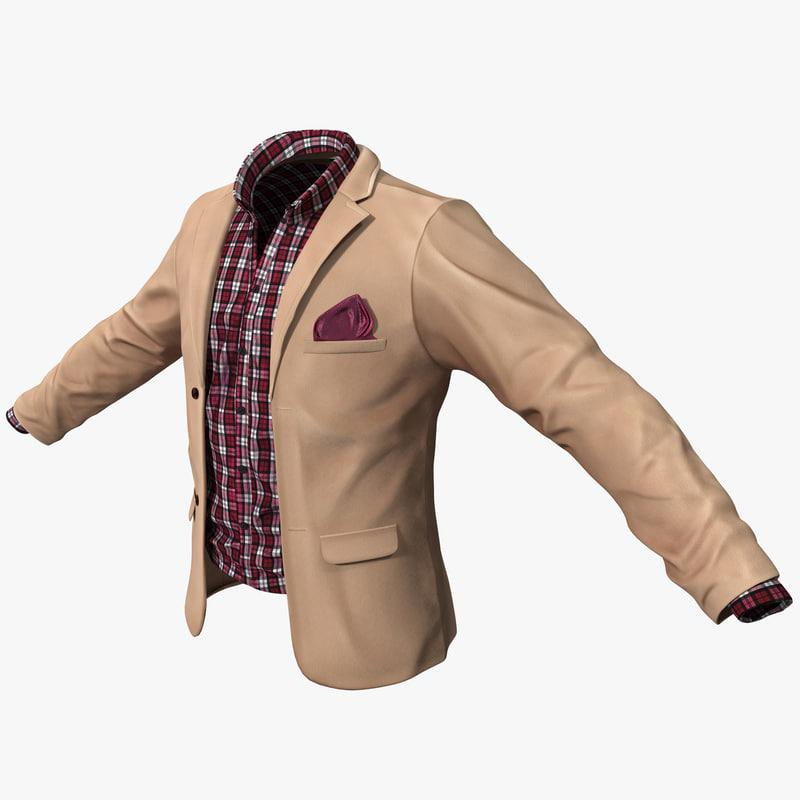 3d mens casual jacket