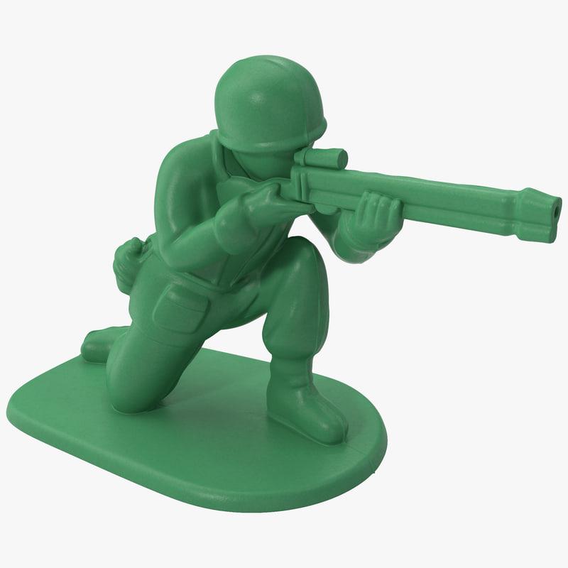 plastic army men 3d c4d