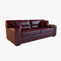 Panther Brown Leather Sofa